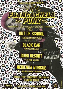 II Francachela Punk: 19/3/2016 en Sala Alex's Pizarra, Málaga