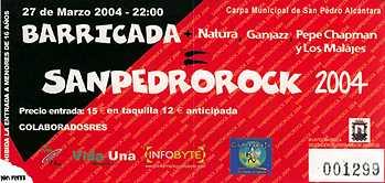 San Pedro Rock 2004: Carpa De San Pedro Alcántara – Marbella (Málaga). 28/03/04