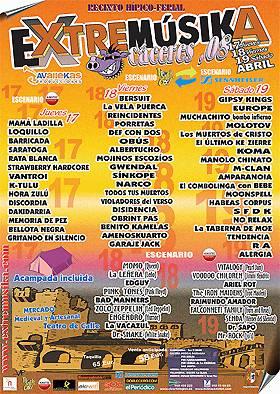 Festival Extremúsica 2008: Previo – 17, 18 y 19 de Abril, Cáceres