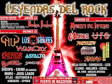 Leyendas del Rock 2008: Previo – 21 a 23 de Agosto, Mazarrón