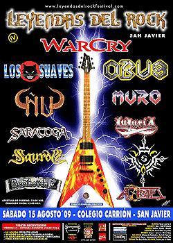 Festival Leyendas del Rock: IV Edición – San Javier (Murcia) – 14 y 15 agosto 2009