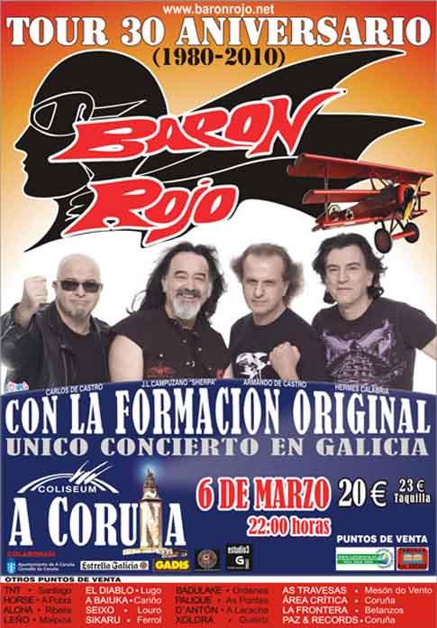 Barón Rojo: Concierto en A Coruña, 06/03/2010