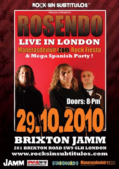 Rosendo: Concierto en Londres (Sala Jamm), 29/10/10