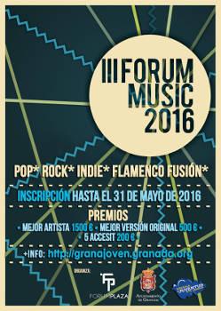 III Concurso Forum Music: Para nuevos grupos de diversos estilos