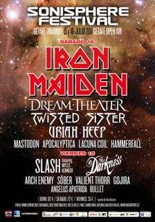 Sonisphere Festival: Días 15 y 16 de julio, Getafe (Madrid)