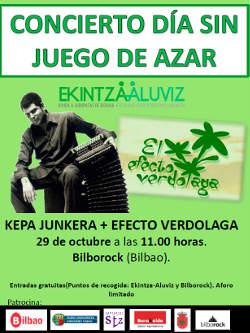 Kepa Junkera: Concierto en Bilbao, 29 de octubre