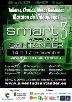 Smart Weekend Santander: Tercera edición, 14 a 17 diciembre 2017