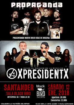 XpresidentX: Concierto en Santander, 13 de enero 2018
