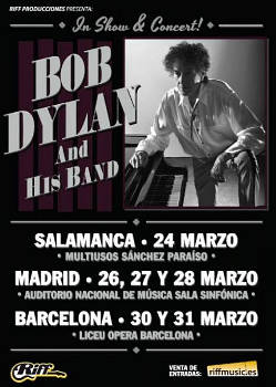 Bob Dylan: 6 actuaciones en España en marzo