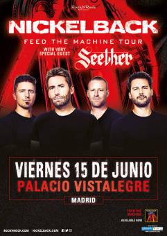 Nickelback: Concierto en Madrid, 15 junio 2018