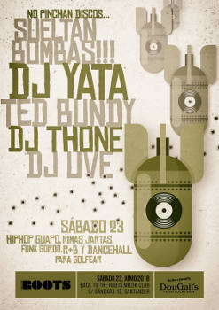 DJ Ted Bundy, DJ Thone, DJ Uve, DJ Yata: Sesión Hip Hop en Santander, 23 de junio 2018
