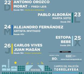 Música en Grande 2018 : X aniversarío, del 22 al 26 de julio en Torrelavega