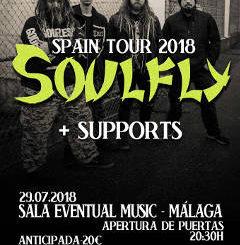 Chaos Before Gea, Soulfly, Verdugo : Concierto el 29 julio de 2018 en Málaga