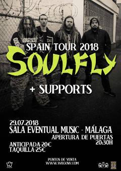 Chaos Before Gea, Soulfly, Verdugo: Concierto el 29 julio de 2018 en Málaga