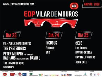 Festival Vilar de Mouros 2018: 23 a 25 de agosto en Vilar de Mouros (Portugal)