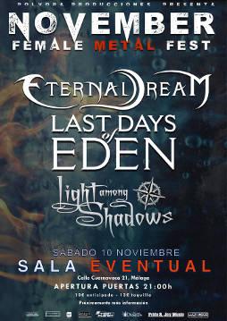 Female Metal Fest: 10 de noviembre 2018, en Málaga