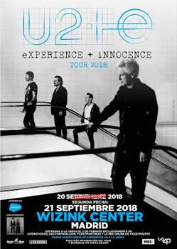 U2: Próximos conciertos en Madrid los días 20 y 21 de septiembre 2018