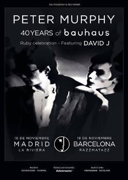 Peter Murphy: Su gira llegará a España entre los días 16 a 19 de noviembre