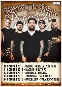 Pipes and Pints: Estarán de giran en España durante el mes de octubre