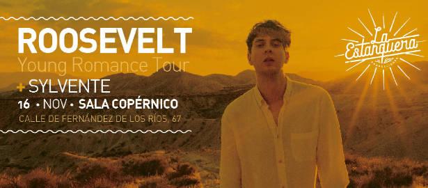 Roosevelt: Actuará en Madrid y Barcelona, los próximos 16 y 17 de noviembre de 2018