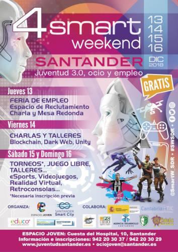 Smart Weekend Santander IV: 13 a 16 diciembre 2018, Santander