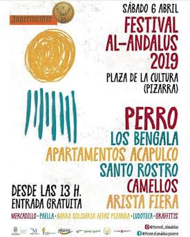 Festival Al Ándalus 2019: 6 de abril 2019, Pizarra (Málaga)