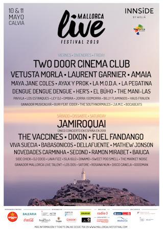 Mallorca Live Festival 2019: 10 y 11 de mayo, en Calvià (Mallorca)