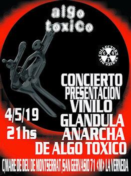 Algo Tóxico: Presentarán su segundo vinilo en solitario en La Verneda, 4 de mayo 2019