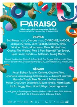 Festival Paraíso: 14 y 15 de junio 2019, Madrid
