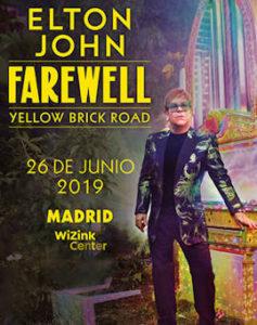 Elton John : Concierto en Madrid el próximo 26 de junio 2019