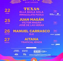 Magdalena en Vivo 2019 : 22, 25, 26 y 27 de julio, en Santander