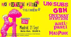 No Future Fest : 20 de septiembre en Barcelona y 21 de septiembre en Madrid