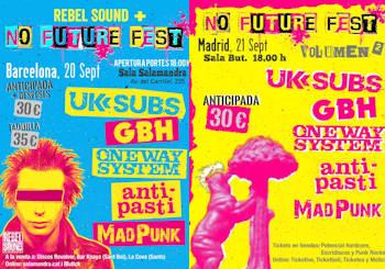 No Future Fest: 20 de septiembre en Barcelona y 21 de septiembre en Madrid