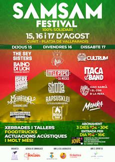 Sam Sam Festival: 15 al 17 de agosto, Cunit (Tarragona)