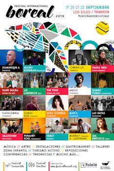 Festival Internacional Boreal: 19 a 22 de septiembre 2019, en Los Silos (Tenerife)
