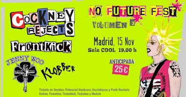 No Future Fest: Volumen 3, 15 de noviembre 2019, en Madrid