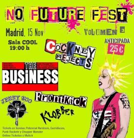 No Future Fest : Volumen 3, 15 de noviembre 2019, en Madrid