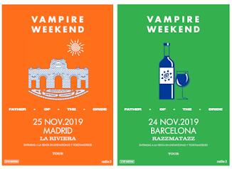 Vampire Weekend : 24 y 25 de noviembre 2019, en Barcelona y Madrid