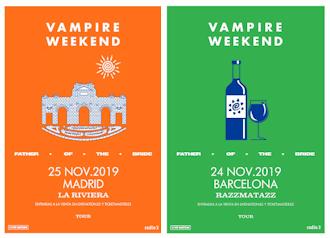 Vampire Weekend: 24 y 25 de noviembre 2019, en Barcelona y Madrid