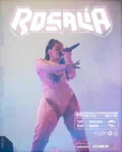 Rosalía : 7 y 10 de diciembre 2019, conciertos en Barcelona y Madrid
