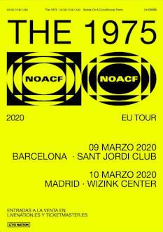 The 1975: Visitarán Barcelona y Madrid en marzo de 2020 dentro de su nueva gira europea