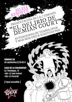 """Silvia Resorte: Presentación del libro """"El delirio de Demian Court"""", 28 de septiembre 2019, en Barcelona"""