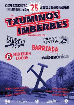 Txuminos Imberbes: Concierto 25 aniversario, 21 de septiembre 2019 en Jerez de la Frontera (Cádiz)