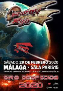 Barón Rojo : Concierto el 29 de febrero de 2020, en Málaga