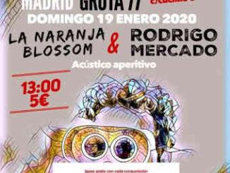 La Naranja Blossom, Rodrigo Mercado : Concierto el 19 de enero de 2020, en Madrid