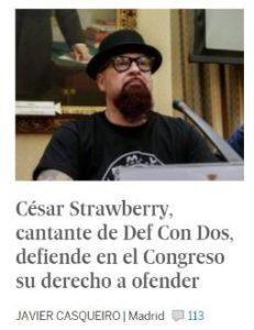 César Strawberry : Defiende la libertad de expresión en el Congreso