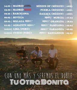 Tu Otra Bonita : Concierto en Madrid, 14/02/2020