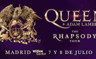 Adam Lambert, Queen : Concierto el 7 y 8 de julio, en Madrid