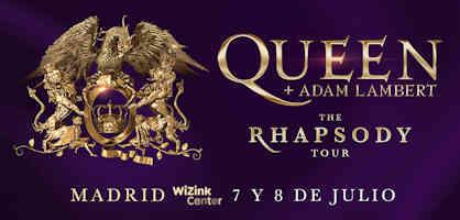 Adam Lambert, Queen: Concierto el 7 y 8 de julio, en Madrid