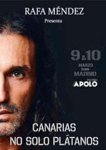 """Rafa Méndez : Su """"amazing"""" show, """"Cantarías, no sólo plátanos"""", llega a Madrid"""